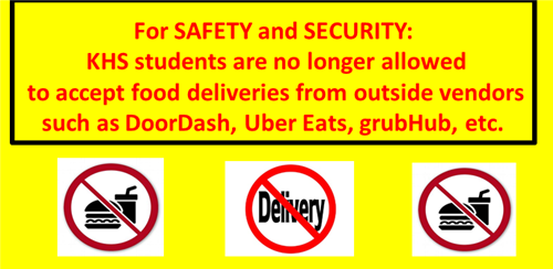 no food deliveries